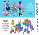 toy constructor isometric... | Shutterstock .eps vector #1104800150