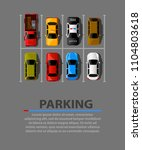 city parking vector web banner. ... | Shutterstock .eps vector #1104803618