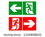 safe sign. the exit icon.... | Shutterstock .eps vector #1104808820