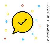 check complete bubble  | Shutterstock .eps vector #1104809708