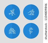 set of 4 athletic icons line... | Shutterstock . vector #1104809846