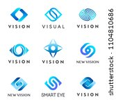 vision. vector logo set. eye... | Shutterstock .eps vector #1104810686