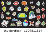 cute colorful modern patch set. ... | Shutterstock .eps vector #1104811814