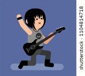 rock star. cartoon vector... | Shutterstock .eps vector #1104814718