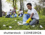 wildlife volunteer. energetic... | Shutterstock . vector #1104818426
