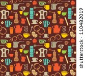 colorful retro coffee icons | Shutterstock .eps vector #110482019