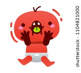 omg surprised monster cute face ...   Shutterstock .eps vector #1104821000