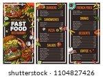 fast food vector menu template...   Shutterstock .eps vector #1104827426