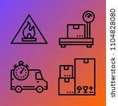 logistics vector icon set... | Shutterstock .eps vector #1104828080