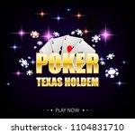 internet casino banner with... | Shutterstock .eps vector #1104831710