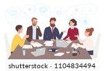 men and women dressed in... | Shutterstock .eps vector #1104834494