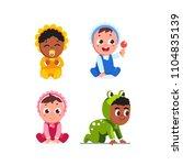 smiling infant baby children... | Shutterstock .eps vector #1104835139