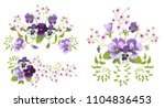 Set Of Pansies Bouquets For...