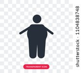 obesity vector icon isolated on ... | Shutterstock .eps vector #1104838748