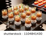 courgette appetizer in small... | Shutterstock . vector #1104841430