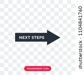 next steps vector icon isolated ... | Shutterstock .eps vector #1104841760