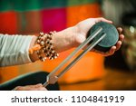 tuning fork in sound therapy | Shutterstock . vector #1104841919