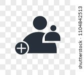 join us vector icon isolated on ... | Shutterstock .eps vector #1104842513