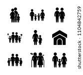 9 family icons vector set....   Shutterstock .eps vector #1104842759