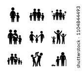 9 family icons vector set.... | Shutterstock .eps vector #1104844493