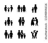 9 family icons vector set.... | Shutterstock .eps vector #1104844616