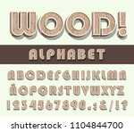high quality vintage wooden... | Shutterstock .eps vector #1104844700