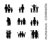 9 family icons vector set.... | Shutterstock .eps vector #1104846056