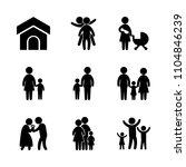 9 family icons vector set. dog  ...   Shutterstock .eps vector #1104846239