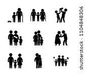 9 family icons vector set.... | Shutterstock .eps vector #1104848306