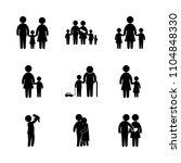 9 family icons vector set.... | Shutterstock .eps vector #1104848330