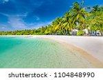 perfect tropical landscape ... | Shutterstock . vector #1104848990