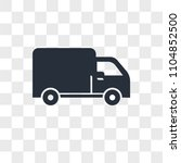 delivery truck vector icon... | Shutterstock .eps vector #1104852500