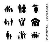 9 family icons vector set....   Shutterstock .eps vector #1104853556