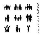 9 family icons vector set.... | Shutterstock .eps vector #1104853640