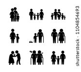 9 family icons vector set.... | Shutterstock .eps vector #1104854693
