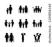 9 family icons vector set.... | Shutterstock .eps vector #1104856160