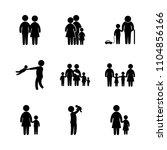 9 family icons vector set.... | Shutterstock .eps vector #1104856166