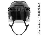 classic ice hockey helmet with... | Shutterstock . vector #1104858446