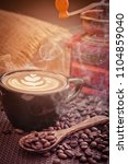 late arts coffe  and coffee... | Shutterstock . vector #1104859040