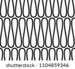 black and white twine rope in... | Shutterstock .eps vector #1104859346