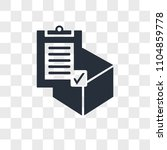 commercial delivery vector icon ... | Shutterstock .eps vector #1104859778