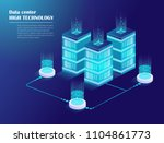 web hosting and big data... | Shutterstock .eps vector #1104861773