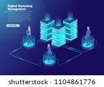 digital marketing management ... | Shutterstock .eps vector #1104861776