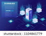 web hosting and big data... | Shutterstock .eps vector #1104861779