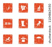 originality gift icons set.... | Shutterstock .eps vector #1104863450