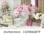 Bunch Of Pink Peony Flowers In...