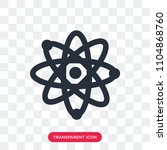 atom vector icon isolated on...   Shutterstock .eps vector #1104868760