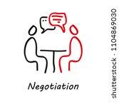 negotiation vector icon.... | Shutterstock .eps vector #1104869030