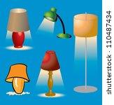 various lighting fixtures and... | Shutterstock .eps vector #110487434