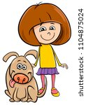 cartoon illustration of kid... | Shutterstock .eps vector #1104875024